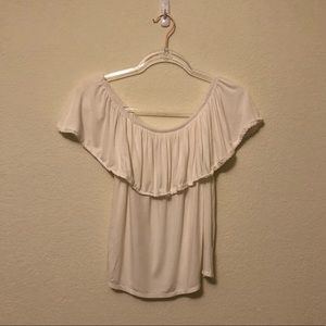 American Eagle Off the Shoulder White Top XS